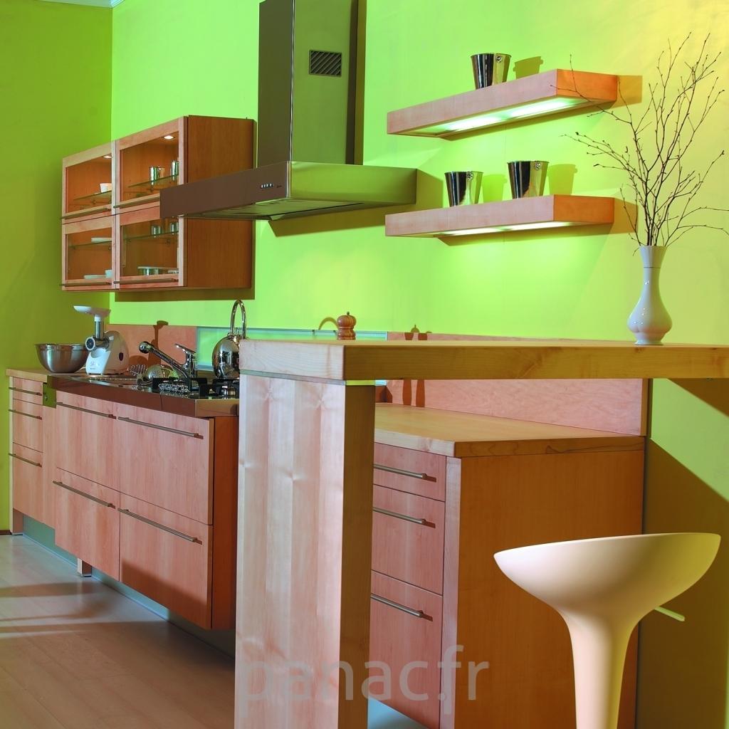 Cuisine bois naturel prix cuisine equipee schmidt 58 for Meuble cuisine bois clair