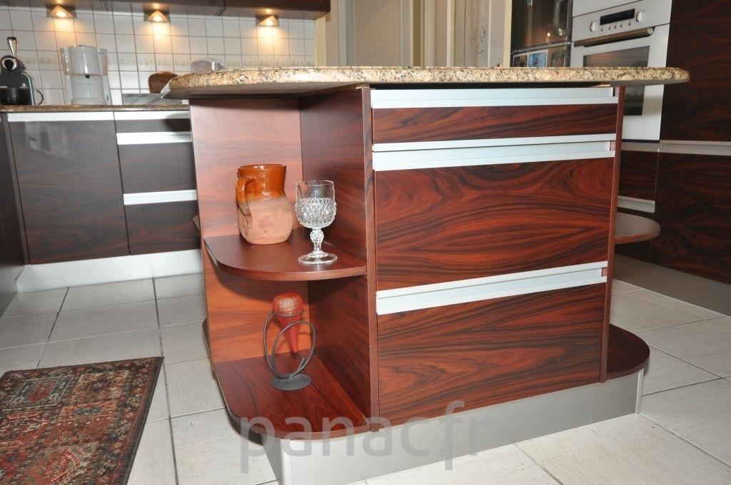 Placage meuble cuisine for Cuisine en bois naturel