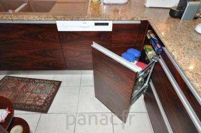 Meubles de cuisine en placage en bois naturel