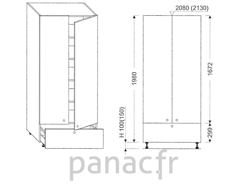 colonne de rangement de cuisine k 80 1980 a1. Black Bedroom Furniture Sets. Home Design Ideas
