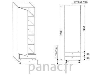 Colonne de rangement de cuisine K-60/2100 A2 L