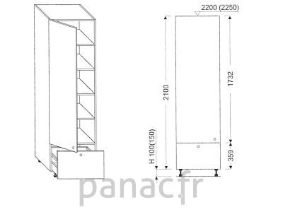 Colonne de rangement de cuisine K-40/2100 B1 L