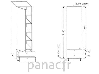 Colonne de rangement de cuisine K-35/2100 B2 L