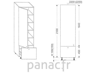 Colonne de rangement de cuisine K-40/2100 C1 L