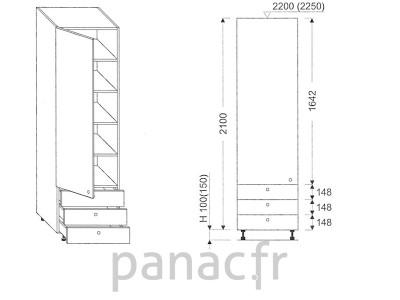 Colonne de rangement de cuisine K-35/2100 C3 L