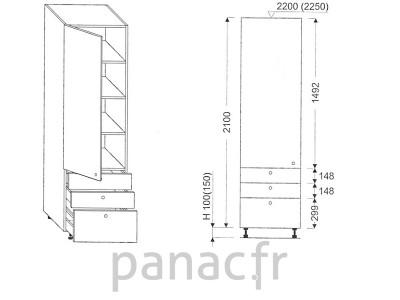 Colonne de rangement de cuisine K-35/2100 S3 L