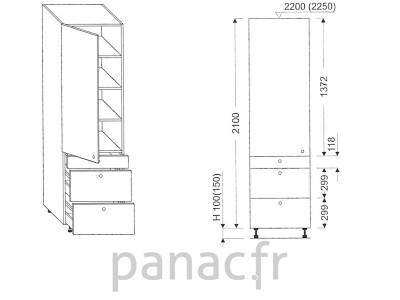 Colonne de rangement de cuisine K-60/2100 T3 L