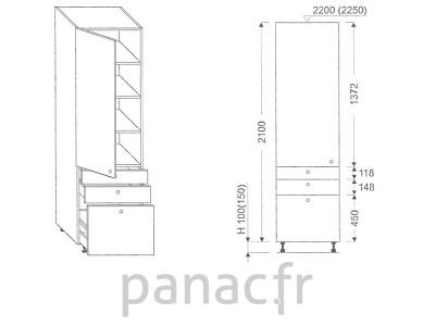 Colonne de rangement de cuisine K-30/2100 T7 L