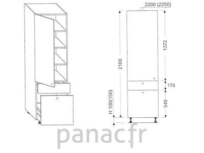 Colonne de rangement de cuisine K-40/2100 T8 L