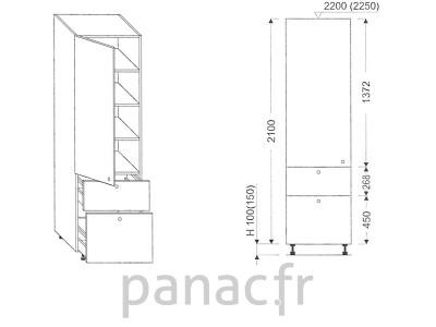 Colonne de rangement de cuisine K-40/2100 T9 L