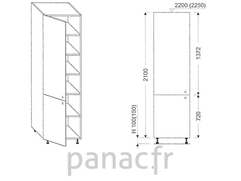 colonne de rangement de cuisine k 40 2100 t l. Black Bedroom Furniture Sets. Home Design Ideas