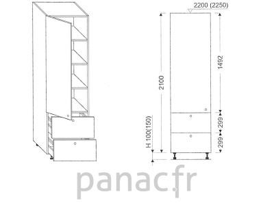 Colonne de rangement de cuisine K-50/2100 S2 L