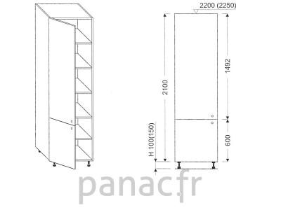 Colonne de rangement de cuisine K-45/2100 S L
