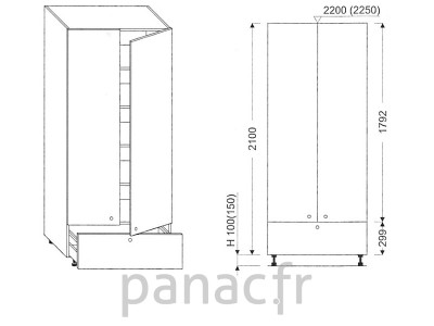 Colonne de rangement de cuisine K-90/2100 A1