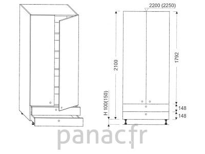 Colonne de rangement de cuisine K-90/2100 A2