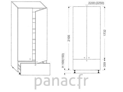 Colonne de rangement de cuisine K-70/2100 B1