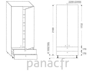 Colonne de rangement de cuisine K-80/2100 B2