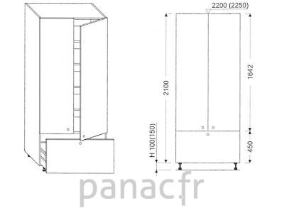 Colonne de rangement de cuisine K-70/2100 C1