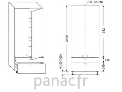 Colonne de rangement de cuisine K-80/2100 C2