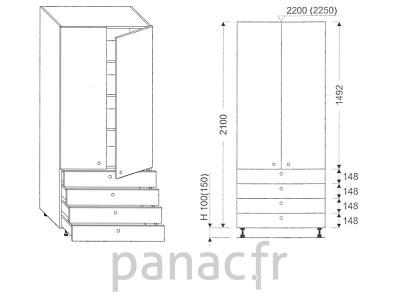 Colonne de rangement de cuisine K-80/2100 S4