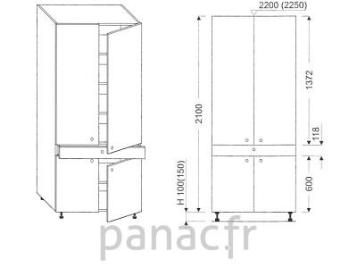 Colonne de rangement de cuisine K-70/2100 T1