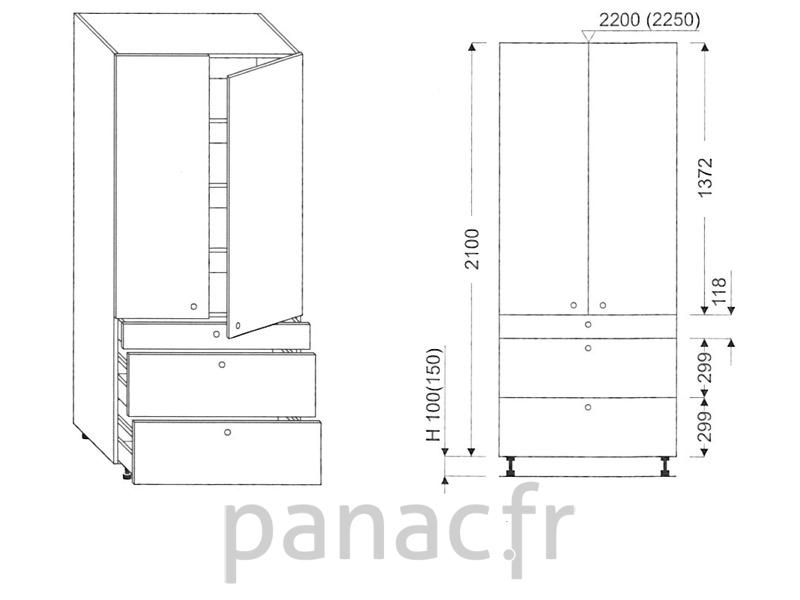 Colonne de rangement de cuisine k 80 2100 t3 - Colonne de rangement cuisine ...