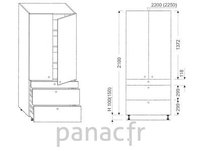 Colonne de rangement de cuisine K-70/2100 T3