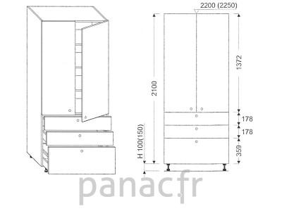Colonne de rangement de cuisine K-70/2100 T6