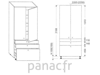 Colonne de rangement de cuisine K-70/2100 T7