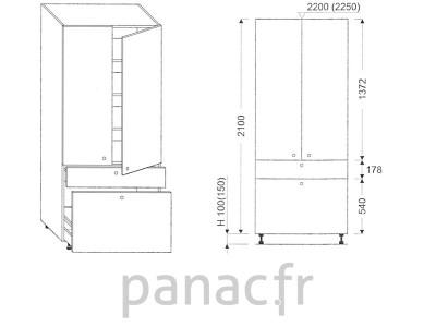 Colonne de rangement de cuisine K-70/2100 T8