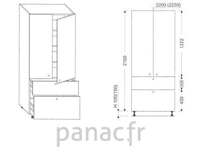 Colonne de rangement de cuisine K-70/2100 T9