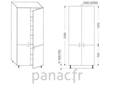 Colonne de rangement de cuisine K-70/2100 T