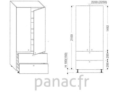 Colonne de rangement de cuisine K-80/2100 S2