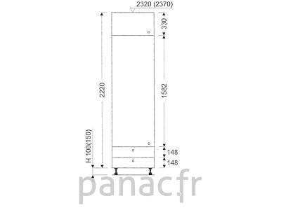 Colonne de rangement de cuisine K-60/2220 A2 L
