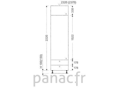 Colonne de rangement de cuisine K-40/2220 B2 L