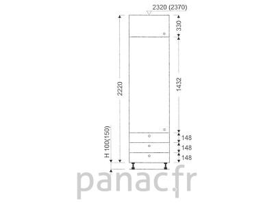 Colonne de rangement de cuisine K-60/2220 C3 L