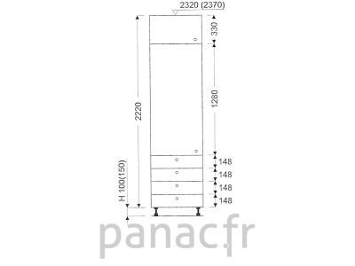 Colonne de rangement de cuisine K-45/2220 S4 L