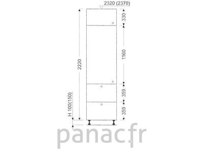 Colonne de rangement de cuisine K-35/2220 T2 L