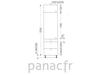 Colonne de rangement de cuisine K-35/2220 T3 L