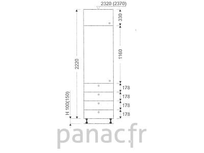 Colonne de rangement de cuisine K-45/2220 T4 L