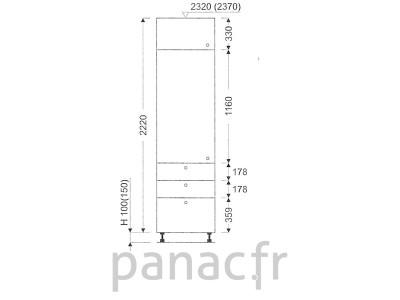 Colonne de rangement de cuisine K-35/2220 T6 L