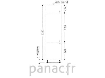 Colonne de rangement de cuisine K-45/2220 T L