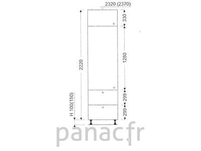 Colonne de rangement de cuisine K-50/2220 S2 L