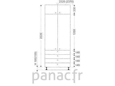 Colonne de rangement de cuisine K-90/2220 S4