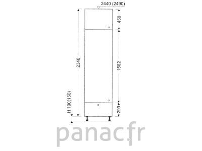 Colonne de rangement de cuisine K-50/2340 A1 L