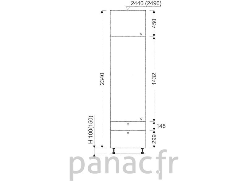 colonne de rangement de cuisine k 60 2340 c2 l. Black Bedroom Furniture Sets. Home Design Ideas