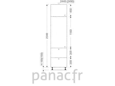 Colonne de rangement de cuisine K-50/2340 T2 L