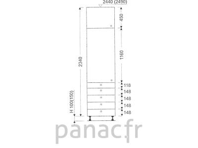 Colonne de rangement de cuisine K-40/2340 T5 L