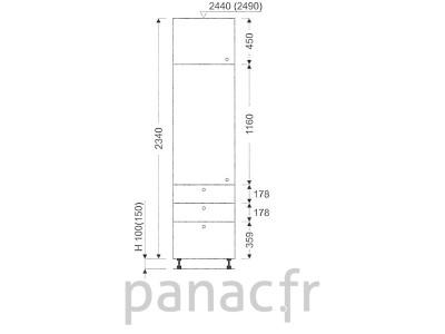 Colonne de rangement de cuisine K-50/2340 T6 L