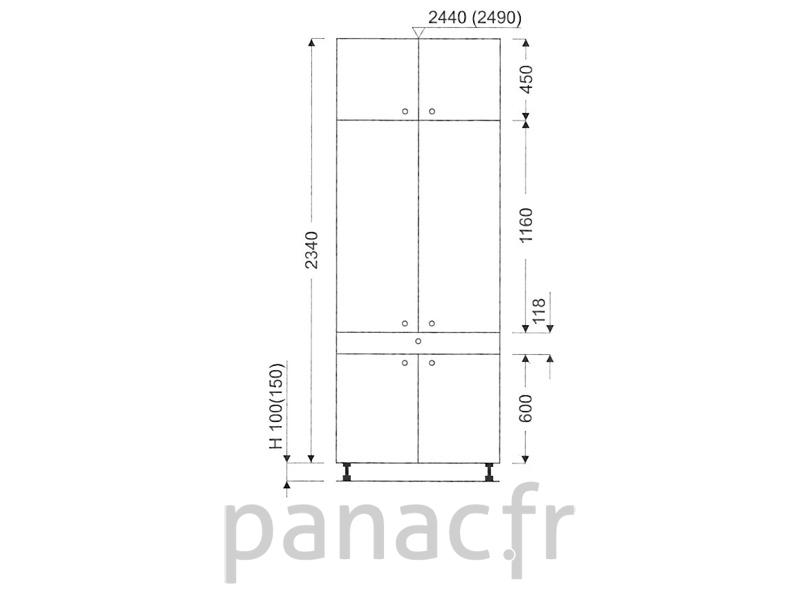colonne de rangement de cuisine k 90 2340 t1. Black Bedroom Furniture Sets. Home Design Ideas